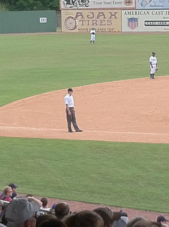 Throwback umpire uniforms
